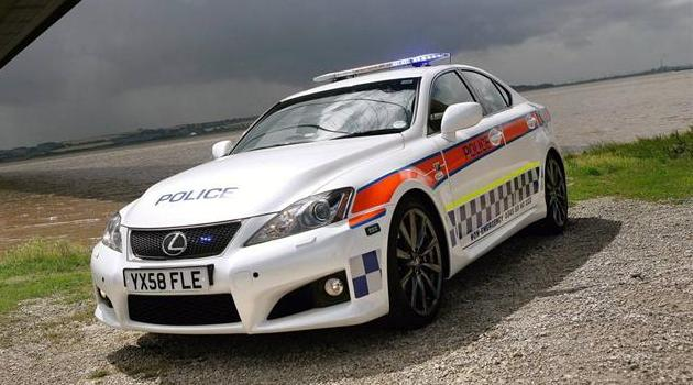 2009-Lexus-IS-F-Police-Car-Front-Side-View