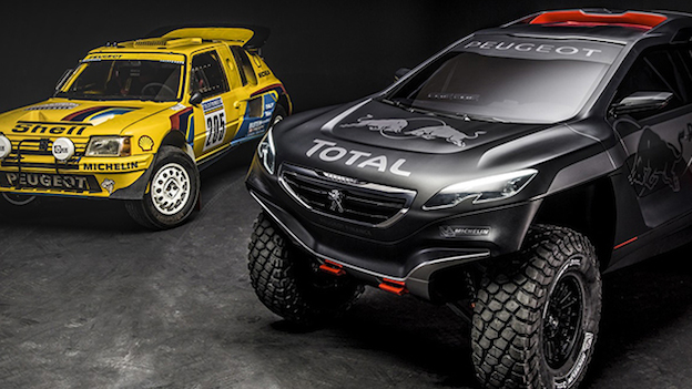 Peugeot 2008 DKR and 205 T16