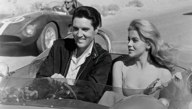 Elvis Presley and Ann-Margret in Stockcar